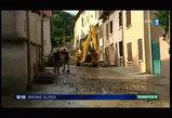 Violents orages dans la r�gion de Bourgoin-Jallieu - ligne SNCF coup�e entre Grenoble et Lyon