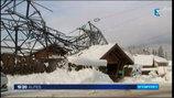 Neige. Une ligne à haute-tension chute dans le secteur des Houches (Haute-Savoie)