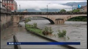 Après les fortes pluies, l'Isère est en décrue