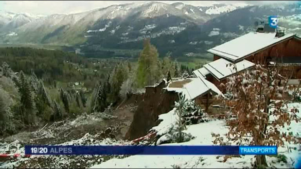 Forte inqui�tude apr�s un nouvel �boulement � Samo�ns, en Haute-Savoie