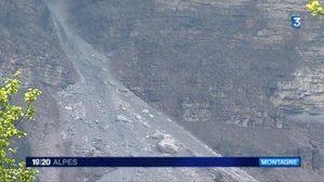 Mont Granier: la maire de Chapareillan interdit l'acc�s apr�s des �boulements aux confins de l'Is�re et de la Savoie