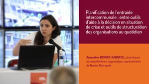 Planification de crise à l'échelle intercommunale : Entre outils d'aide à la décision en situation de crise et outils de structuration des organisations au quotidien.